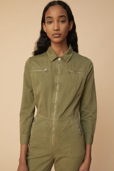 Alexa Chung Boiler Suit - Washed Green