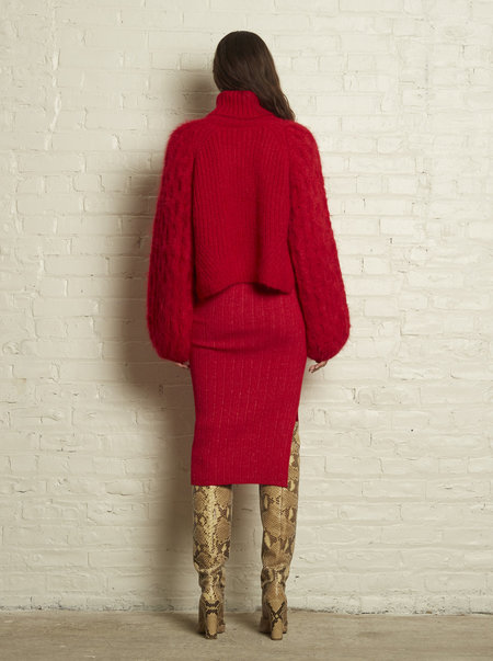 ELEVEN SIX NINA SWEATER - PERSIMMON RED