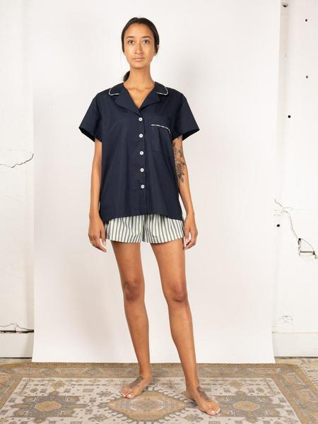 Kinda Sleepwear Late Shorts Set - Night Blue