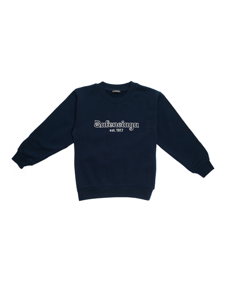 Kids Balenciaga Kids Logo Sweatshirt - Navy Blue