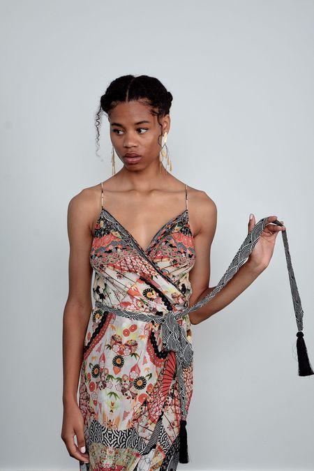 CAMILLA Asymmetric Wrap Dress - Vintage Vixen
