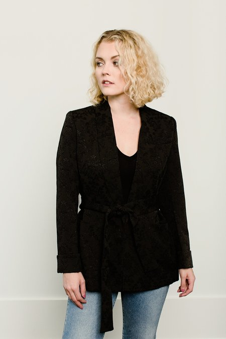 French Connection Jane Suiting Belted Shawl Collar Jacket - Black