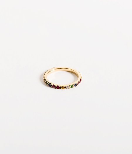 Zofia Day Midi Rainbow Ring - 14k Gold