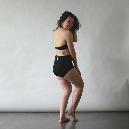 Frankie Four Ava Halter Swimsuit Top - Black