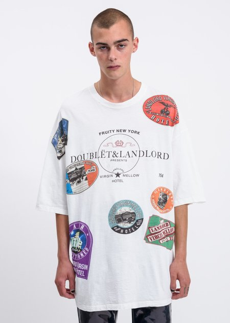 Land Lord x Doublet Compressed Ball T-Shirt - white