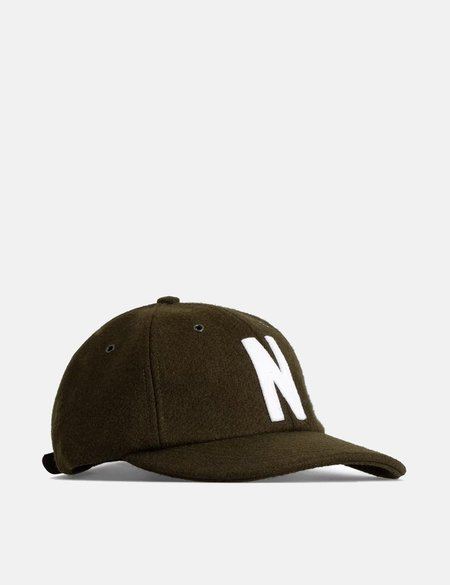Norse Projects Wool Sports Cap - Beech Green