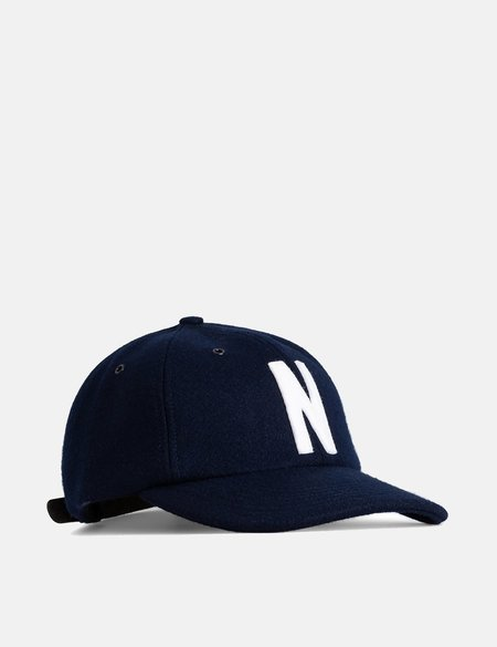 Norse Projects Wool Sports Cap - Dark Navy Blue
