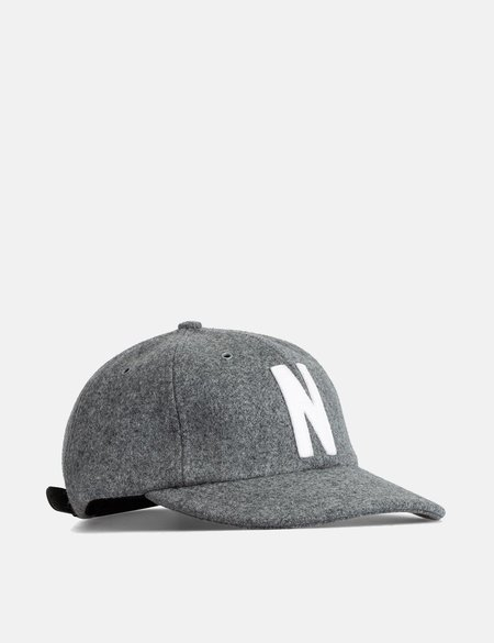 Norse Projects Wool Sports Cap - Light Grey Melange