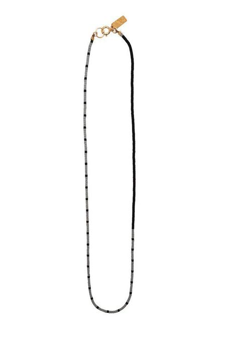 Abacus Row Indio Necklace - Fog/Black