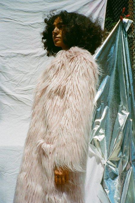 Sandy Liang Vert Coat - Pink Tinsel