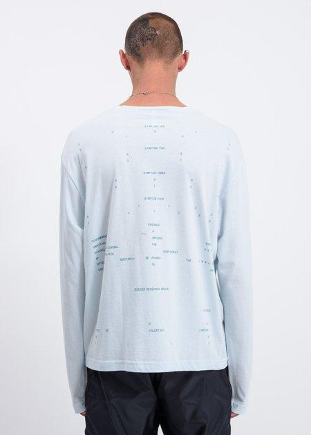 Dossier Symptoms Long Sleeve T-shirt - Blue