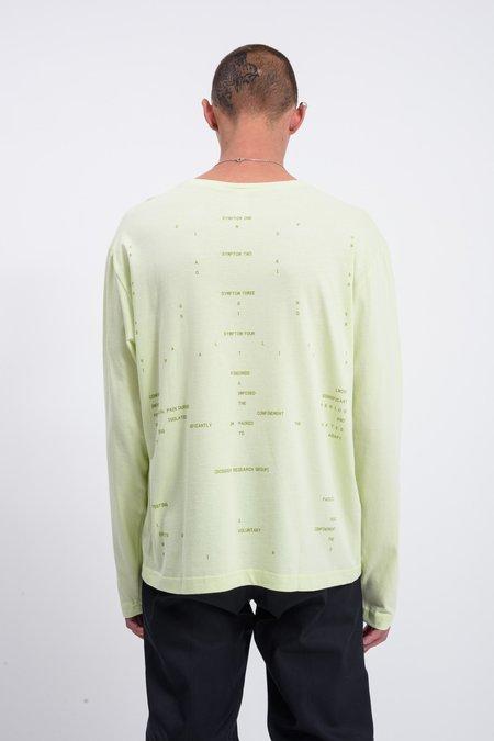 Dossier Symptoms Long Sleeve T-shirt - Lime Green