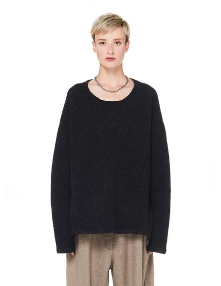 The Row Jass Cashmere Sweater - Shadow Grey