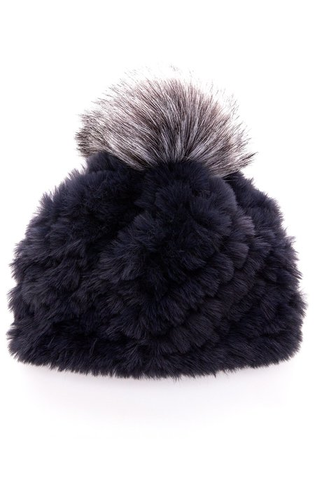 Jocelyn Faux Fur Hat with Pom Pom