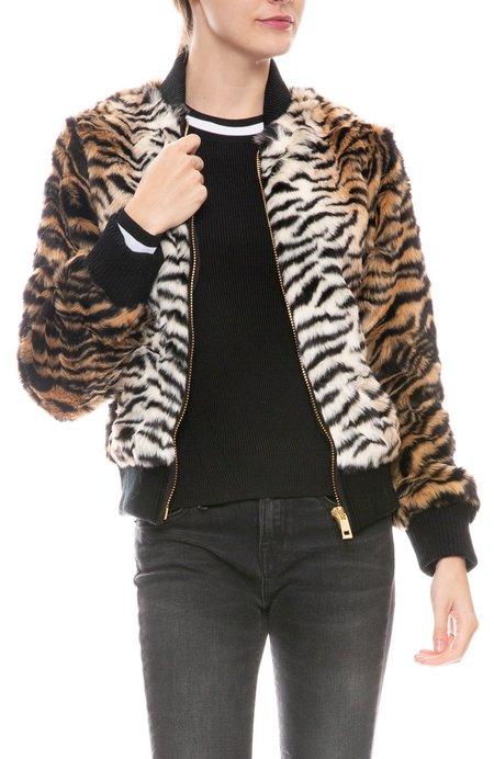 Jocelyn Faux Fur Jacket - Tiger