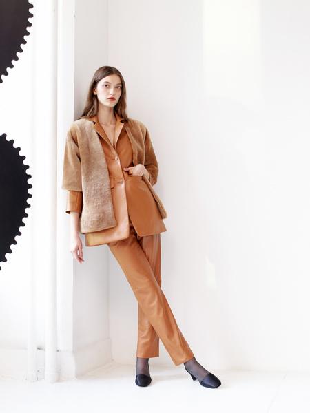 Alejandra Alonso Rojas Nappa Leather Blazer