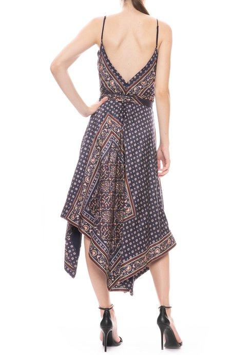 Jonathan Simkhai Scarf Print Wrap Dress - MIDNIGHT COMBO