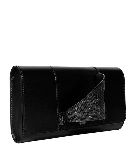 Perrin Paris Leather L'Eiffel Clutch - Black