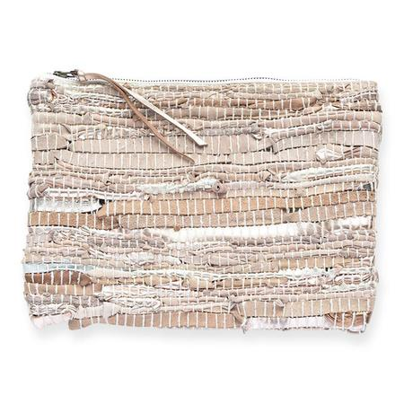 Ink + Alloy Recycled Leather Clutch - Rose Gold