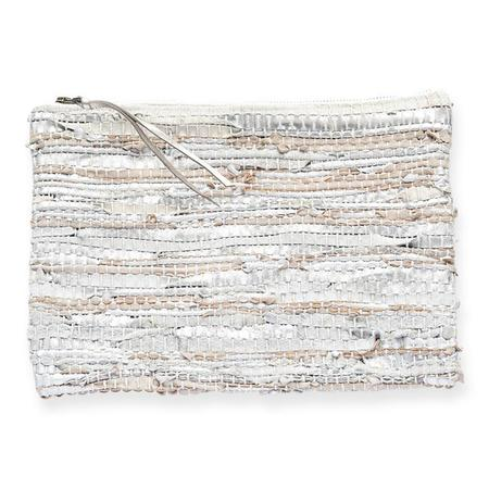 Ink + Alloy Recycled Leather Clutch - Silver