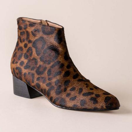 Huma Blanco Calf Hair Ortencia Boot - Dark Leopard
