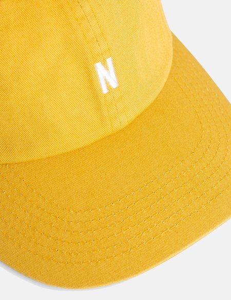 Norse Projects Twill Sports Cap - Montpellier Yellow