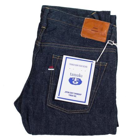 Tanuki Fuuma Retro Sen Selvedge Street Tapered Jeans - Indigo