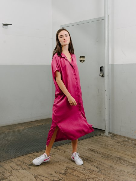 Priory Placket II Dress - Slinky Fuchsia Bright