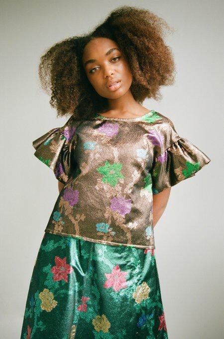 Eliza Faulkner Raffi Top - Copper floral