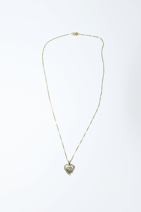 Above Average Studio Solid Heart Necklace - 14K Gold Fill