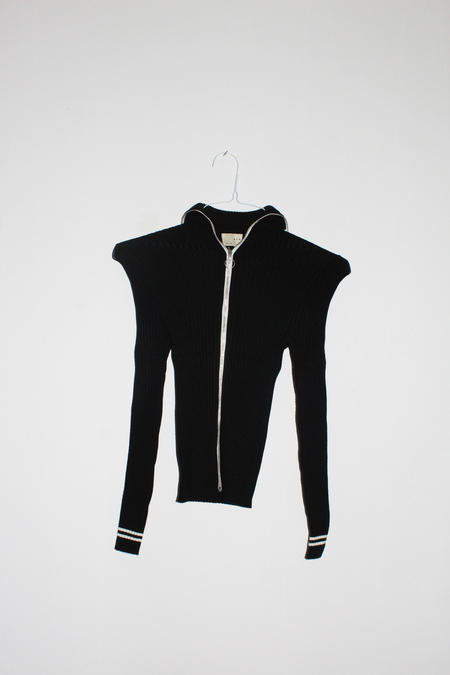 giu giu Nonna Track Jacket in Onyx/Ivory