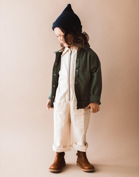 Kids Gray Label Organic Collar Jacket - Moss