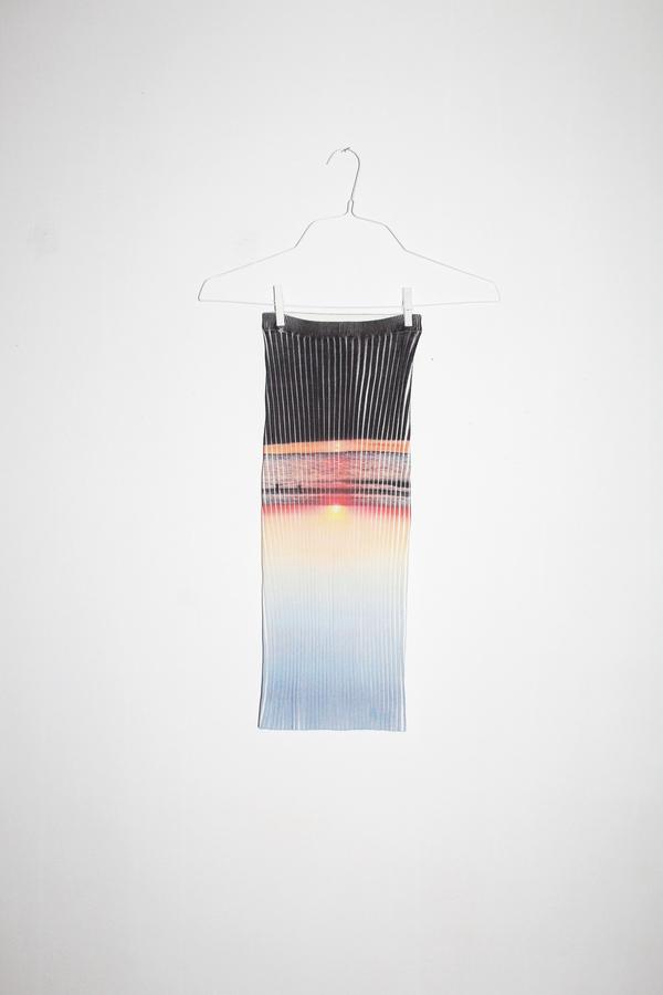 giu giu Moonrise Shrunken Ribbed Nonna Tube Skirt