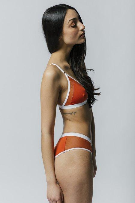 Mary Young Contrast Bra - Orange