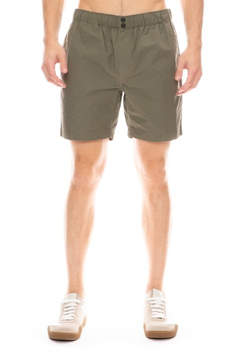 Alex Mill Cotton Nylon Short - Army Olive