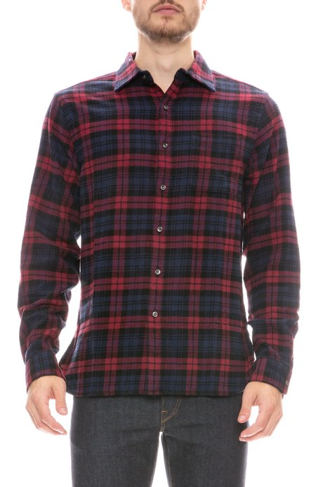 Alex Mill Easy Plaid Flannel - RED/NAVY