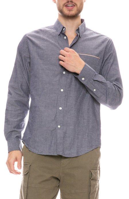 Billy Reid MSL Pocket Shirt - Blue