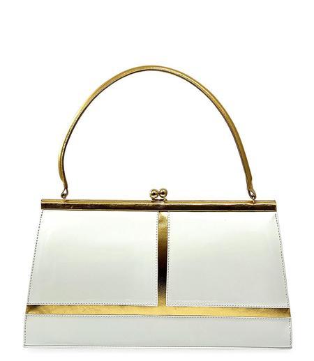 Daniele Ancarani Galaxy Venus Leather Handbag - White