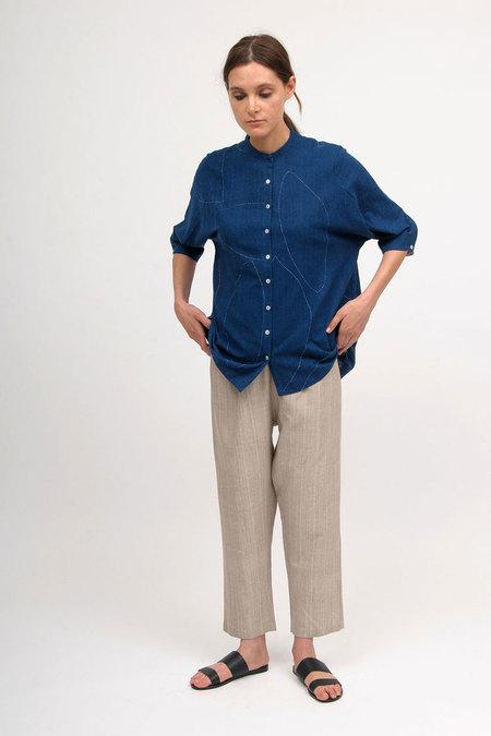 11.11 / Eleven Eleven Vacca Shirt - Indigo