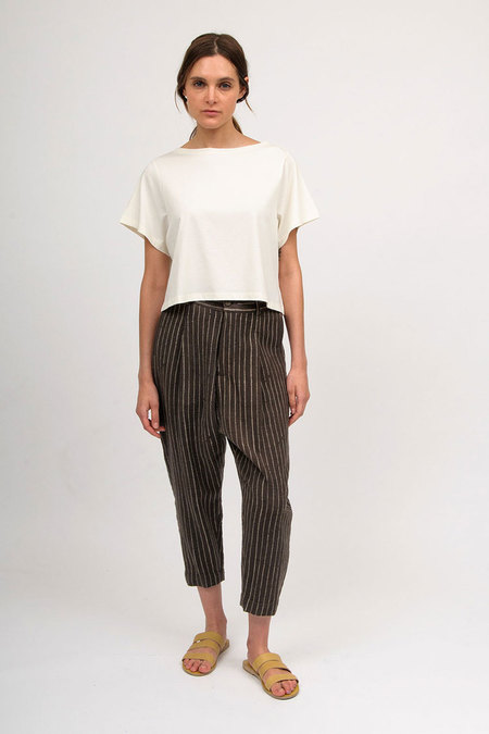 11.11 / Eleven Eleven Tailored Pants - Brown/Cream