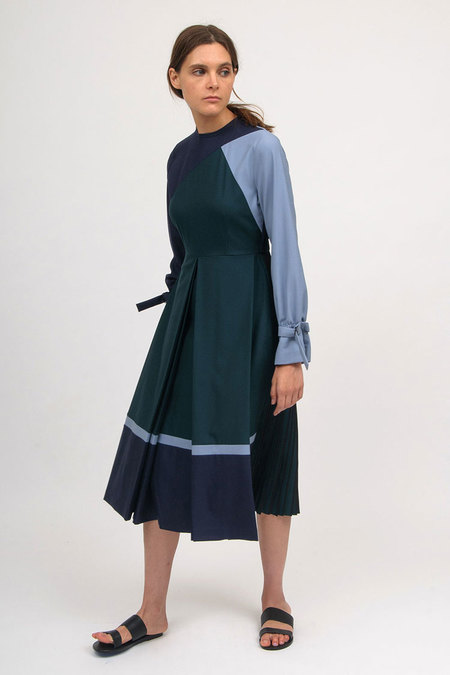 Bodice Box Pleated Dress