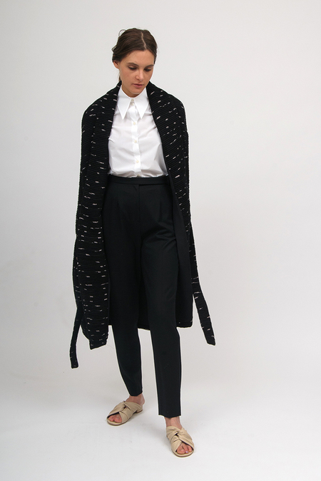 Laura Siegel Long Jacket - Black/White