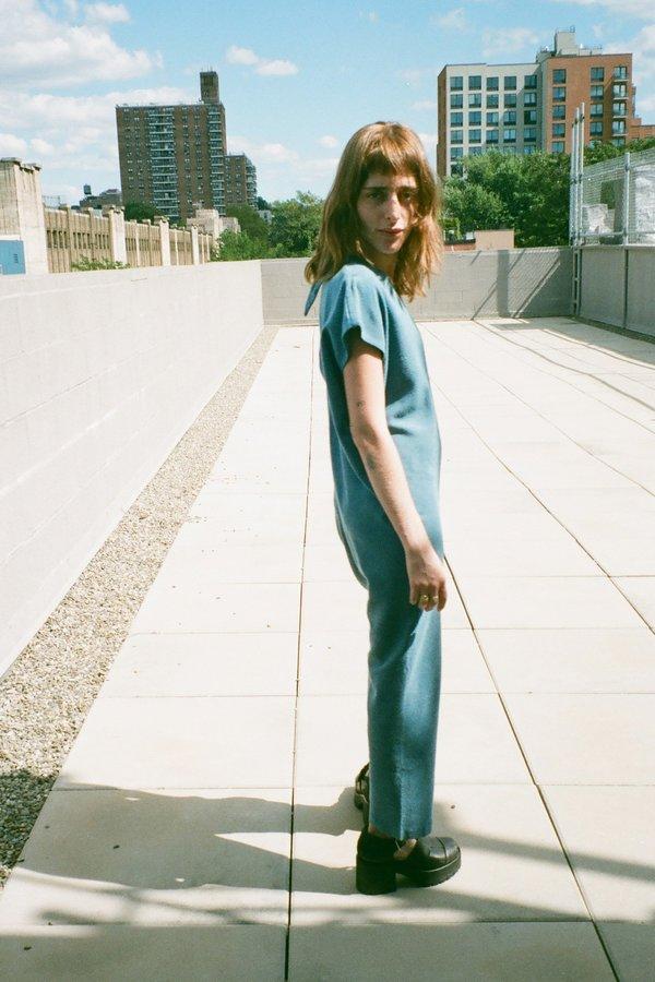 Miranda Bennett Petite Silk Noil Everyday Jumpsuit - Indigo