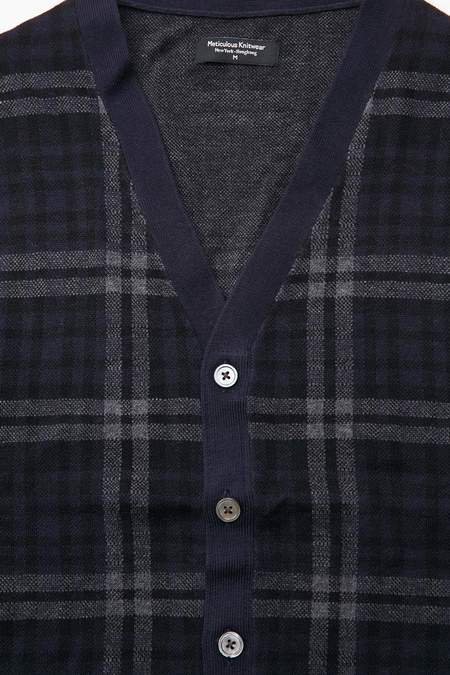 Meticulous Knitwear Woodstock Combo - Navy/Black/Charcoal Plaid