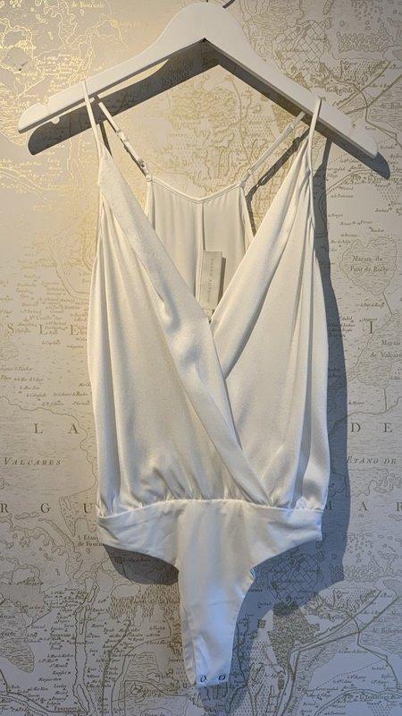 Michelle Mason Silk Charmeuse Cami Wrap Bodysuit