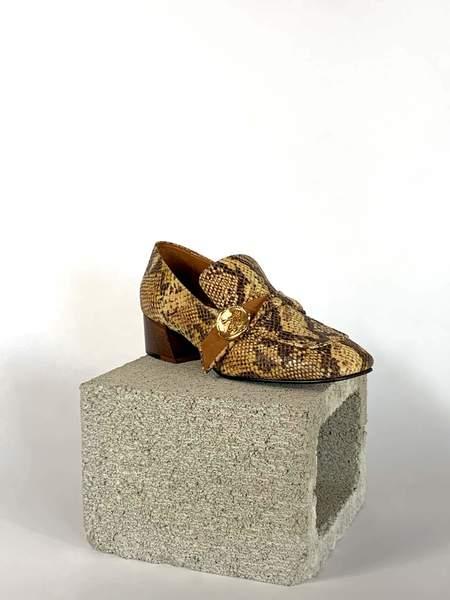 Taylor + Thomas Jane Loafer - Golden Python