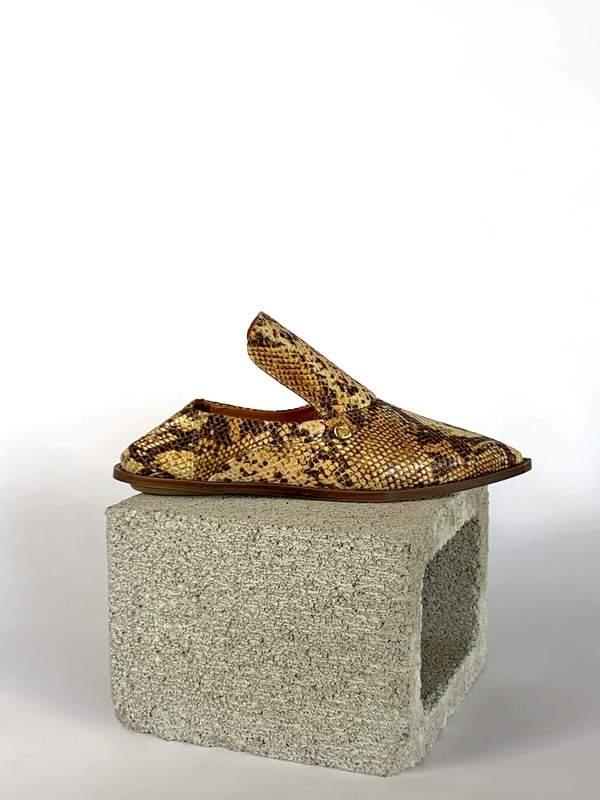 Taylor + Thomas Tally Babouche - Golden Python