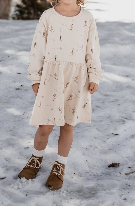 Kids Rylee + Cru Ski Raglan Dress - Cream
