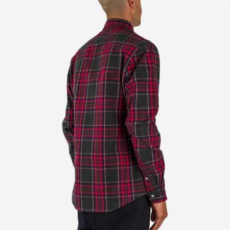 Bon Vivant Gino Heavyweight Plaid Moleskin Shirt - Navy/Red/Green
