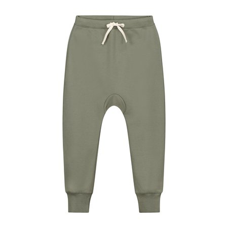 KIDS gray label baggy pants - moss